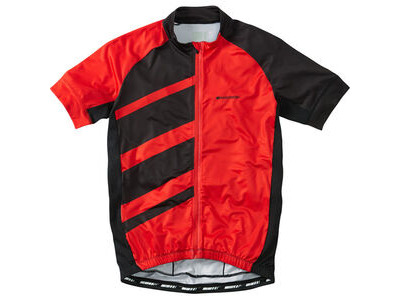 Madison Sportive Race men's short sleeve jersey, flame red / black