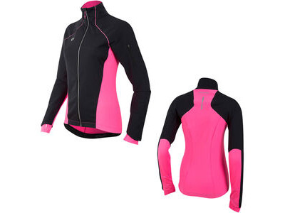 Pearl Izumi Women's, Pursuit Softshell Jacket, Black/Screaming Pink
