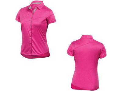 Pearl Izumi Women's MTB Divide Polo, pink punch, S