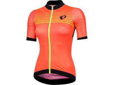 Pearl Izumi Women's P.R.O. Pursuit Speed Jersey Fiery Coral Diffuse