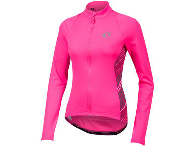 Pearl Izumi Women's SELECT Pursuit Thermal Jersey Screaming Pink Whirl