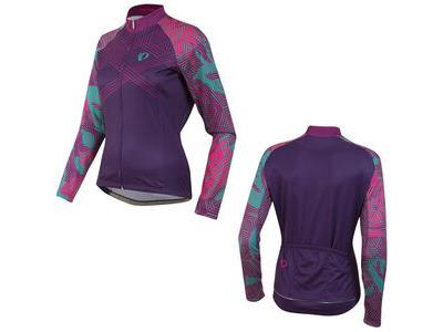 Pearl Izumi Women's, Elite Thermal Ltd Jersey, Floral Wineberry
