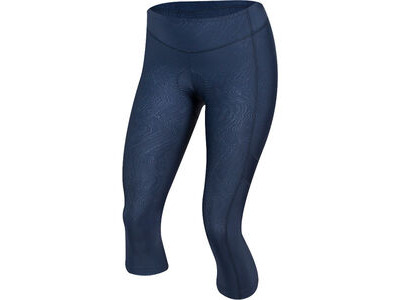 Pearl Izumi Women's Escape Sugar Cycling 3/4 Tight, Navy Phyllite Texture
